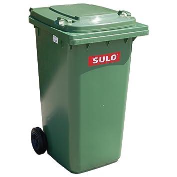 Cubo de basura 2 ruedas, contenedor a basura SULO 240 litros, verde (22065