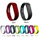 Niutop Set 10 Couleurs accessoires bandes de rechange Bracelet avec des fermoirs métalliques pour Fitbit Flex Bracelet Arm Band Sport / Activité (sans des traqueurs , bandes de remplacement uniquement)