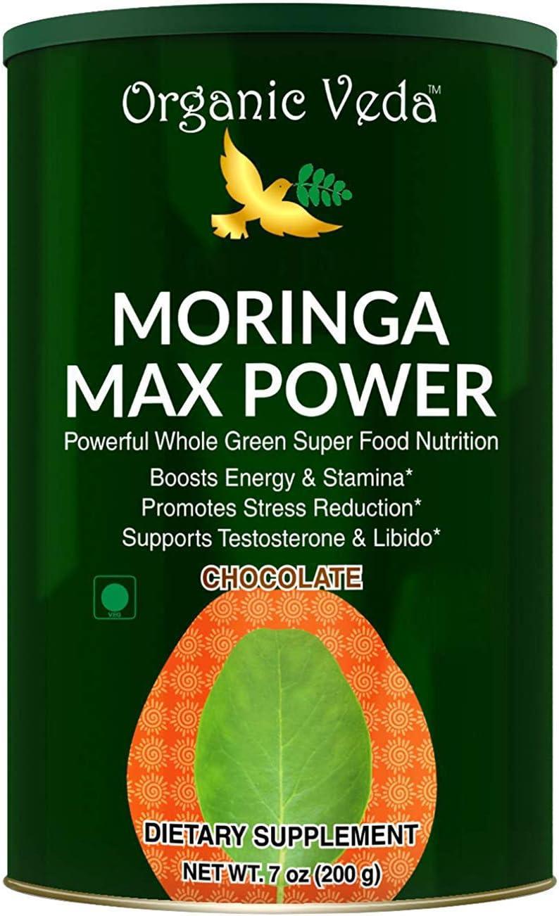 Moringa Max Power Powder 7oz - USDA Organic, Vegan, Non-GMO, Super Food