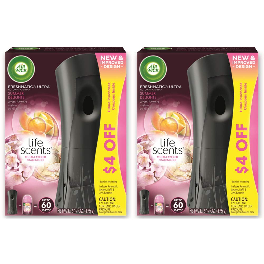 Air Wick Freshmatic Automatic Spray Kit (Gadget + Refill), Summer Delights, Air Freshener (Pack of 2)
