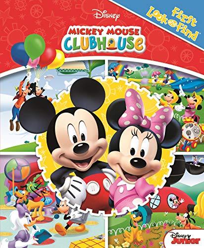 Disney La Casa de Mickey Mouse - Mi Primer Basca y Encuentra - Mickey Mouse Clubhouse Look and Find - PI Kids (Spanish Edition) (Uno Dos Tres Cuatro Cinco Cinco Seis)