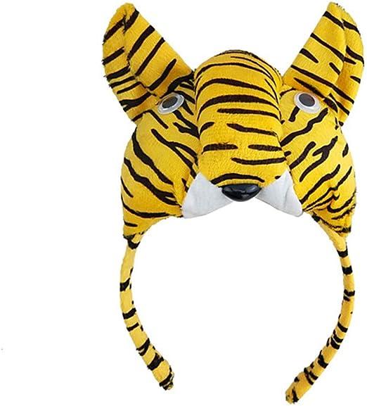 Amosfun Tigre Diadema Infantil Disfraz Orejas Diadema Rol Juego de ...