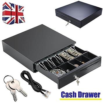 Caja de almacenamiento de cajones de cajón, 5 bandejas de monedas extraíbles y 5 bandejas