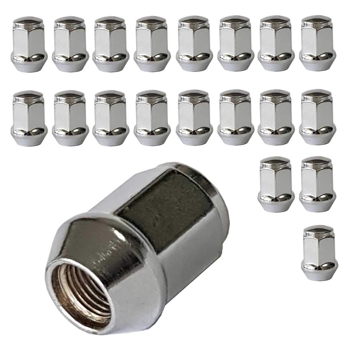 20 dadi conici per ruota chiusi M12 x 1,25 HEX19 SU LA
