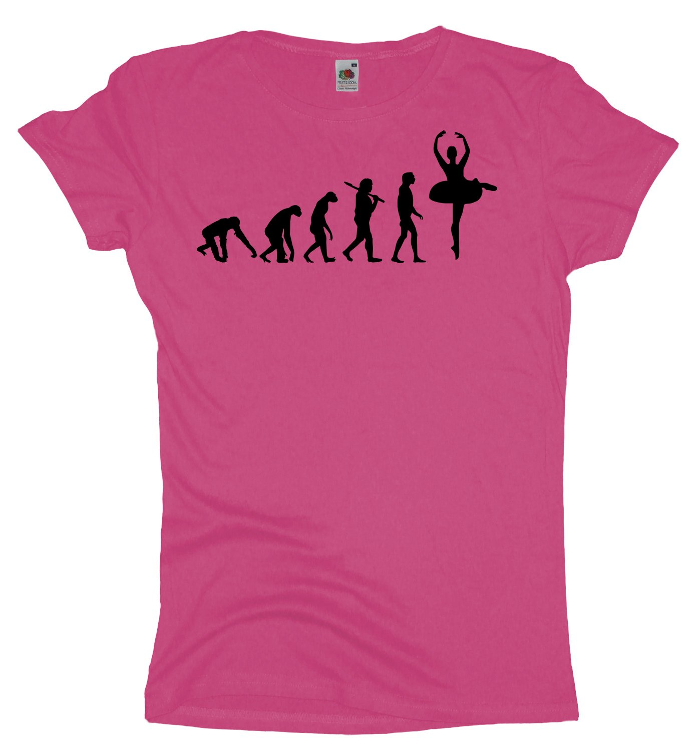 Ma2ca - Evolution - Ballerina - Damen Girlie T-Shirt: Amazon.de: Bekleidung