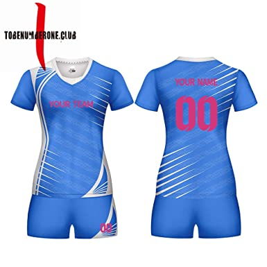 0e1cb5a07 Custom Women s Sublimated Volleyball Shirts Short Sleeve Jerseys add with  Team Name and Number (XS