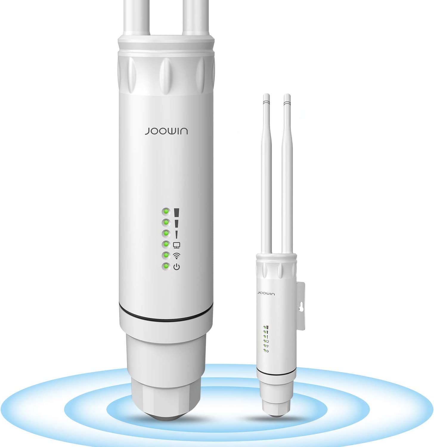 JOOWIN AC1200 Outdoor Wireless Access Point High Power with PoE, Weatherproof Outdoor WiFi Extender Wireless WiFi Access Points/Router/Repeater/Bridge Dual Band 2.4G 300Mbps or 5G 867Mbps 802.11AC