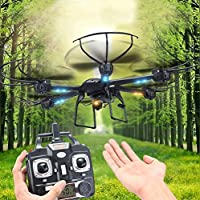 Kingtoys MJX X601H FPV Wifi Hexacopter RC Quadcopter Helicopter with 0.3MP Camera2.4GHz 6 Channel 6 Axis Gyro Aircraft Drone Black
