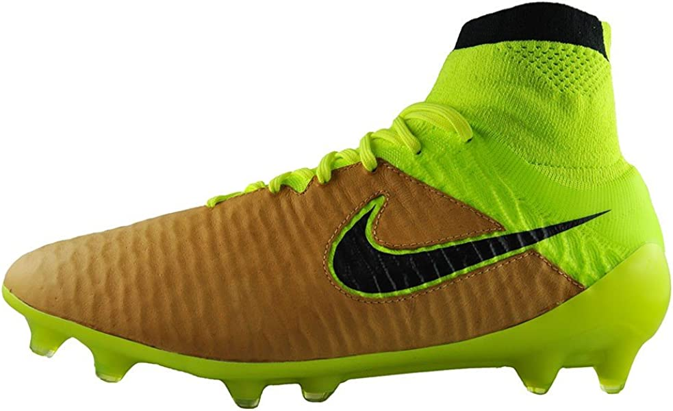 b47e30c2a7d4 Nike Men s Magista Obra Leather Firm Ground Soccer Shoes (Canvas Black-Volt-
