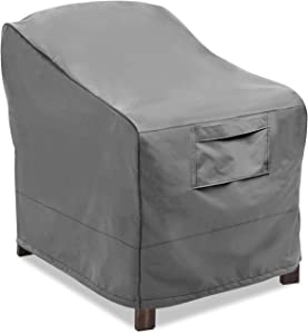 Vailge Patio Chair Covers, Lounge Deep Seat Cover, Heavy Duty and Waterproof Outdoor Lawn Patio Furniture Covers (Large, Grey)