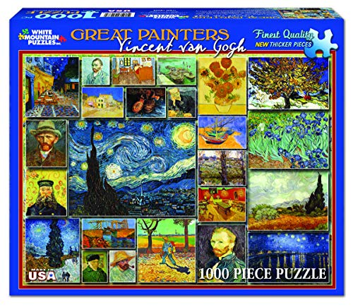 White Mountain Puzzles Great Painters Collection - Vincent Van Gogh - 1,000 Piece Jigsaw Puzzle