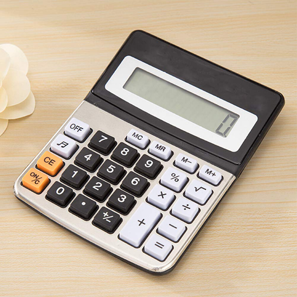 Universal Calculators Standard Function Electronics Desktop Calculator 8 Digit Large LCD Display Handheld Calculator for Daily and Basic Office 1pc