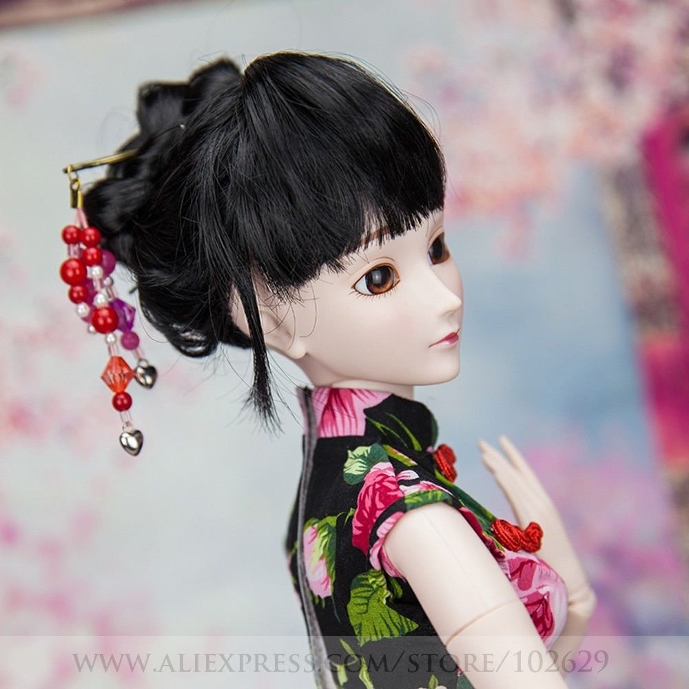 Chinese Cheongsam Donna 1/3 SD Doll 60cm 24'' Ball Jointed BJD Dolls Full Set Reborn Toy SD Surprise Doll by EVA BJD (Image #5)