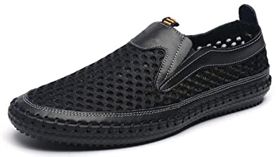 66c434d77d7e MIXSNOW Men s Water Shoes Mesh Casual Walking Shoes Slip-On Loafers  WDBlack38
