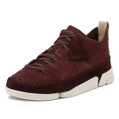 CLARKS Mens Burgundy Trigenic Flex Sneakers-UK 6