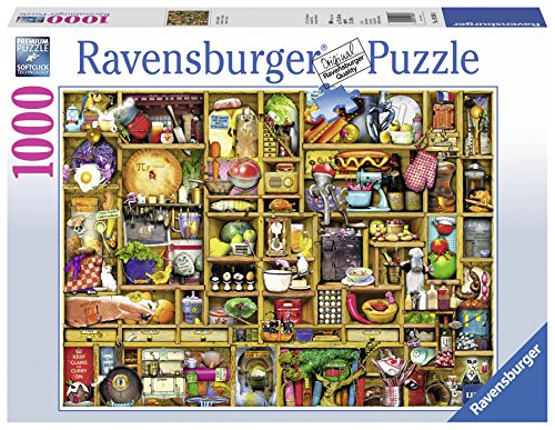 Ravensburger Kitchen Cupboard 1000 Piece Jigsaw Puzzle for Adults – Every Piece is Unique, Softclick Technology Means…