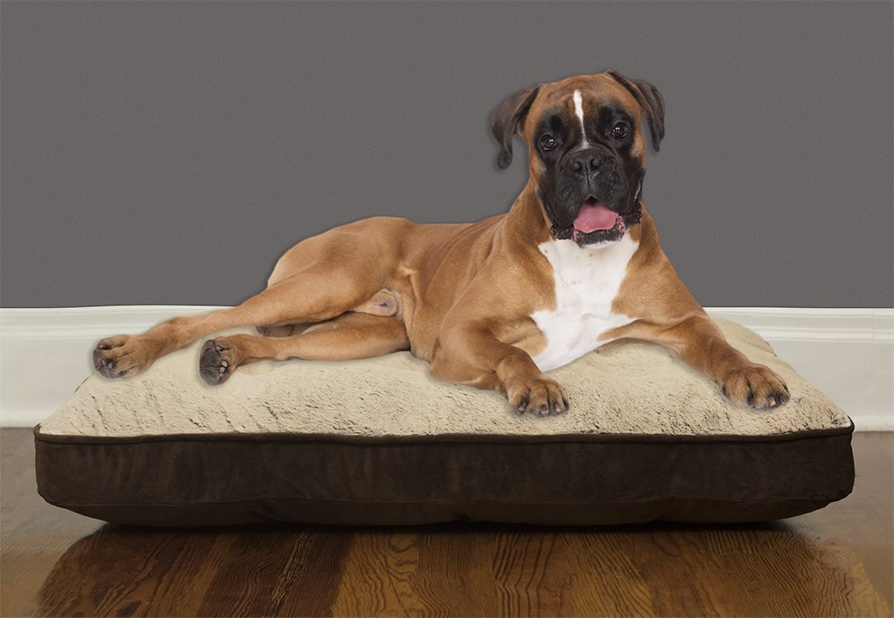 Arlee 59-40392NAT Orthopedic Mattress Pet Bed For Dogs And Cats, Large X-Large, Dark Brown