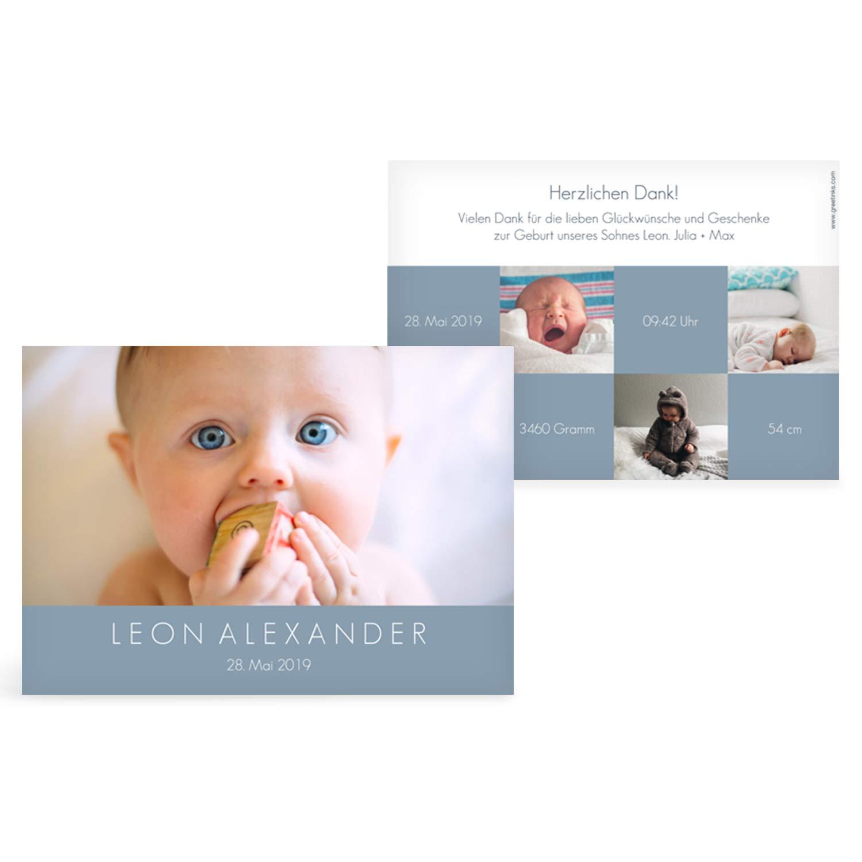 Greetinks 50 50 50 x Geburtskarten 'Über dich' in Blau   Personalisierte Karten zur Geburt zum selbst gestalten   50 Stück Babykarten Dankeskarten B07HC7GQBX | Perfekte Verarbeitung  | Das hochwertigste Material  | Authentische Garantie  2e702c
