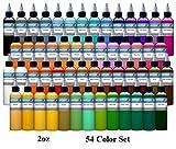54 Color Set - Intenze Tattoo Ink - 2oz Bottles
