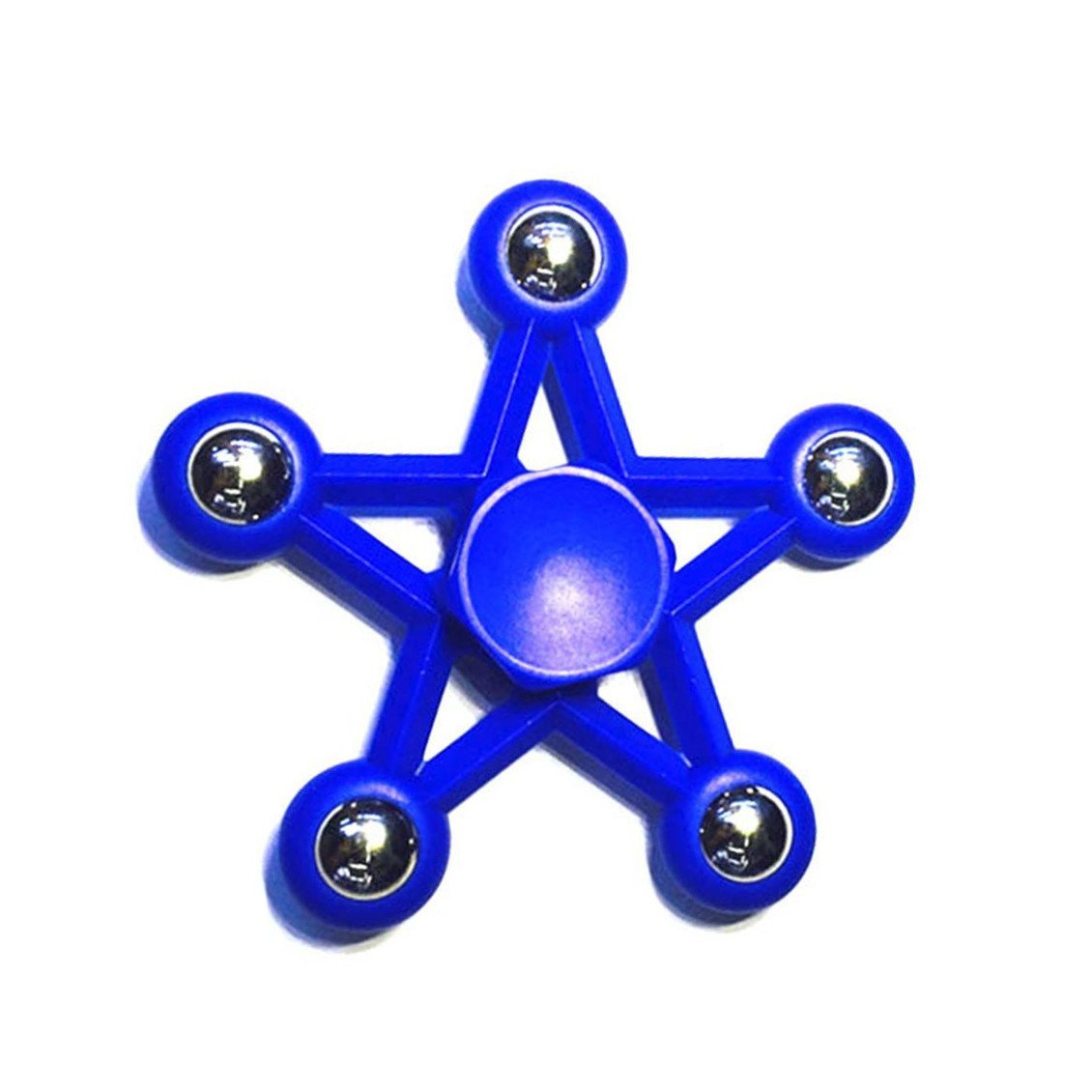 sterne Spinner Fidget, kunststoff - und edelstahl - perlen hand kreisel Spielzeug EDC ADHD Angst Autismus Fokus lindert Stress Anti Stress Spielzeug drehen für 1 - 5 minuten. (Blue)