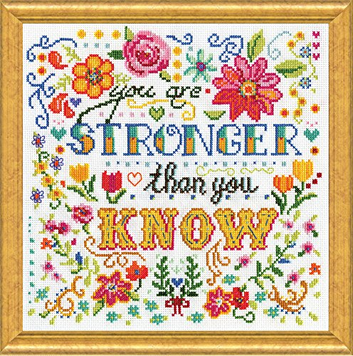 "Design Works Crafts 2988 Stronger, 10"" x 10"" Counted Cross S"