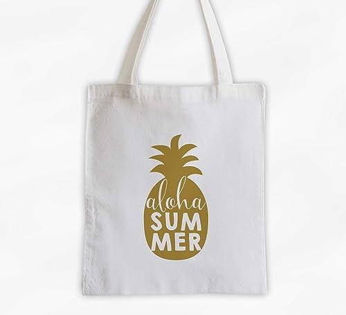 Aloha Pineapple Canvas Tote Bag