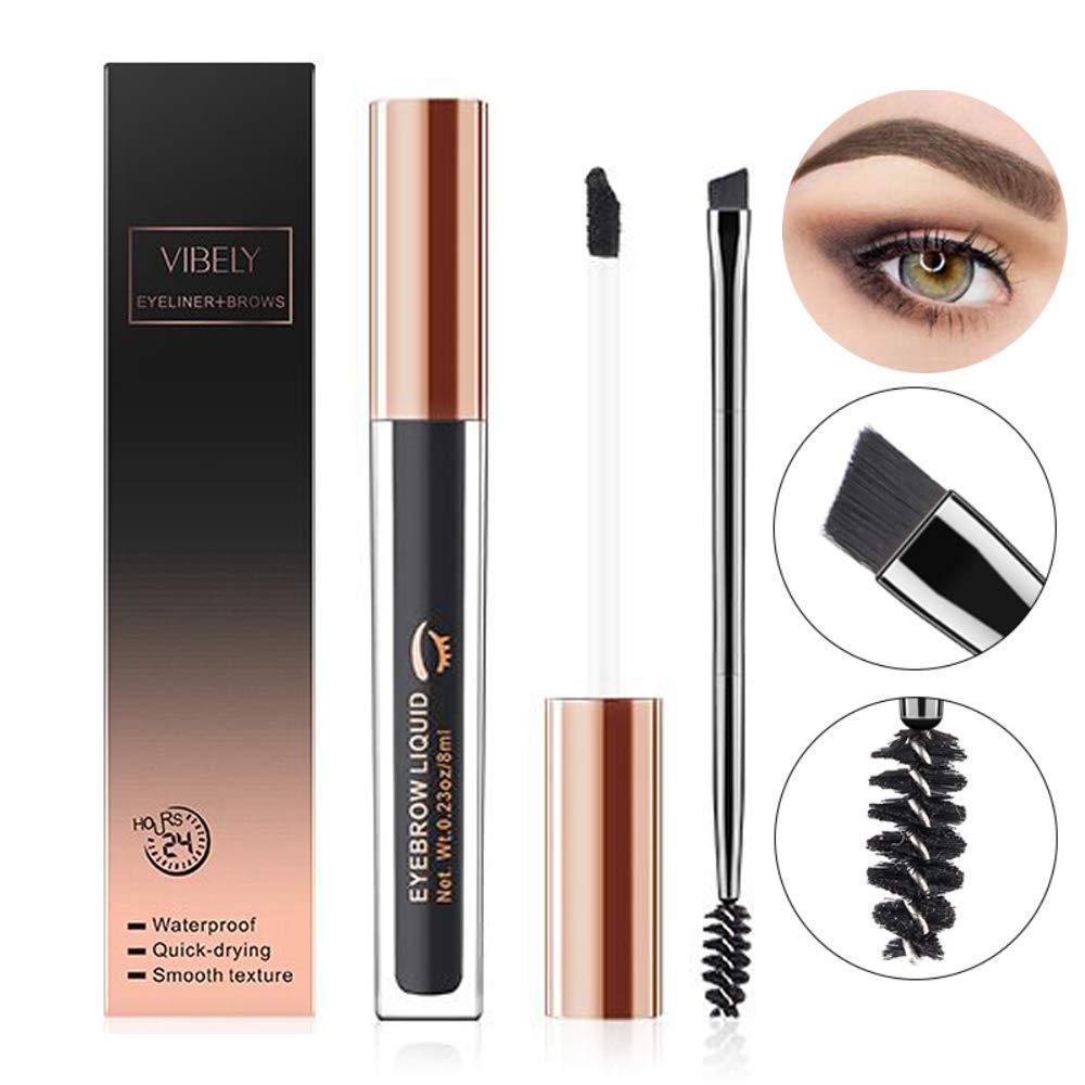 604ac09fcea2 Amazon.com : Waterproof Brow Gel, Tinted Brow Makeup, 24 Hours Long Lasting Eyebrow  Gel for Waterproof Eyebrow Makeup With Eyebrow Pencil Makeup Brush ...