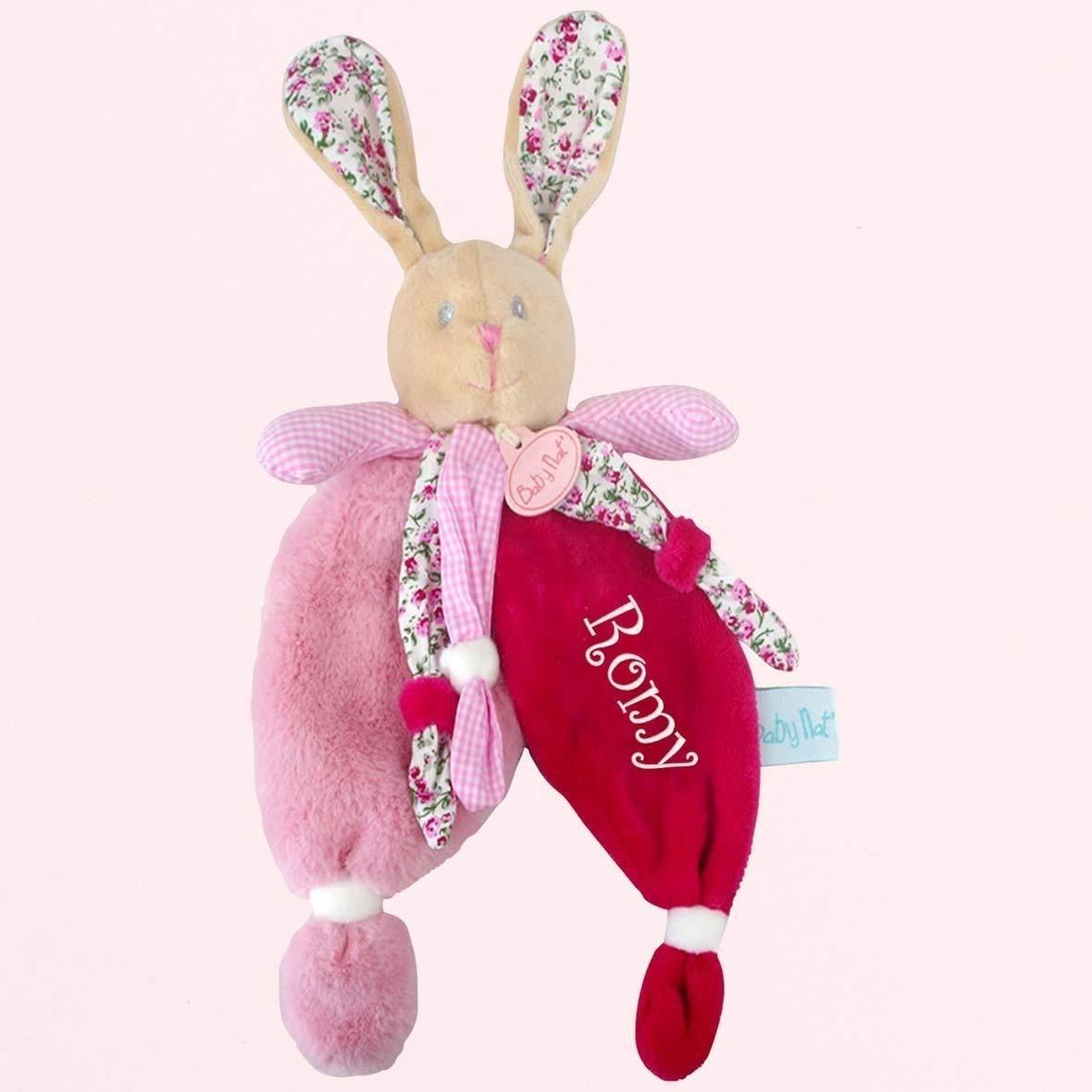 Doudou à broder avec prénom - Les poupis - cadeau liste de naissance - cadeau personnalisé naissance