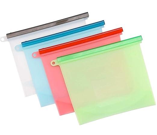 Bolsas de silicona para almacenamiento de alimentos ...