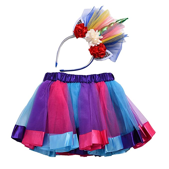 mama stadt Disfraz de Unicornio para Niña Falda de Tutú Tul ...