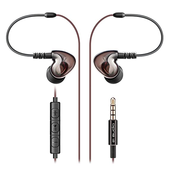 In-Ear Headphones, 01 Audio Viper Earbuds Earphones with Mic- Coaxial Dual Drivers