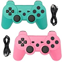 Tidoom PS3 Controller 2 Pack Wireless Bluetooth 6-Axis Gamepad Controllers Compatible for Playstation 3 Dualshock 3…