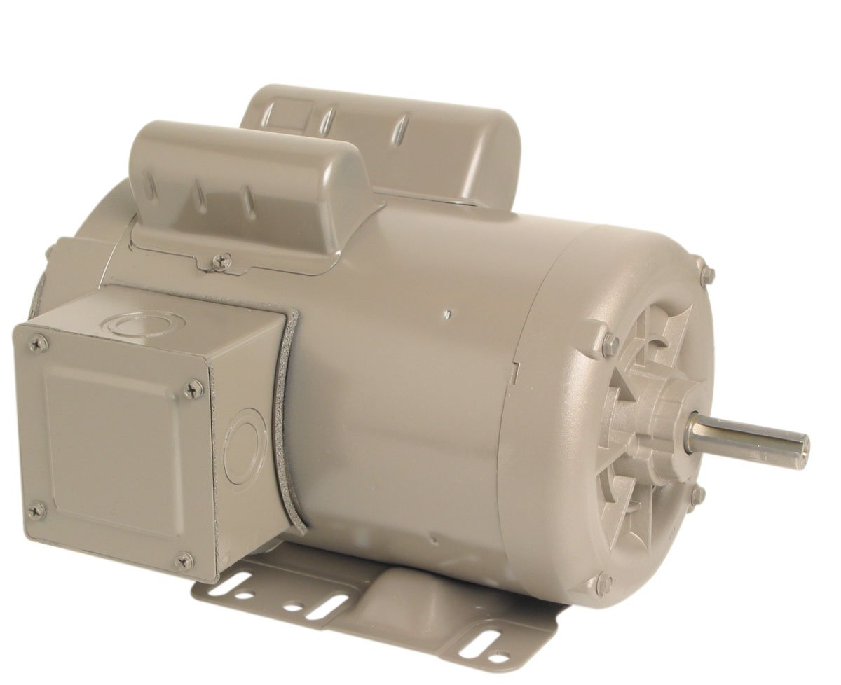 A.O. Smith C597 1.0 .29 HP, 1800/1200 RPM.3/3.0 Amps, 1 Service Factor, 56H Frame, Manual Protector, TEAO Enclosure Farm Duty Motor