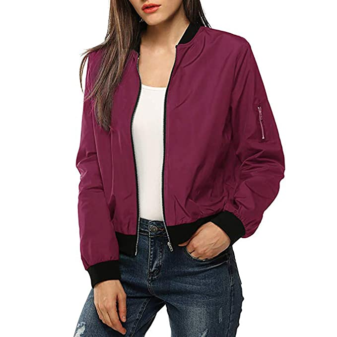 the best attitude 3346b b64cf LeeMon Damen Winter Bomberjacke Frauen mit Futter mit Futter ...