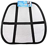 (Pack of 24) Back Support Mesh Auto Back Support Chair Back Support Black