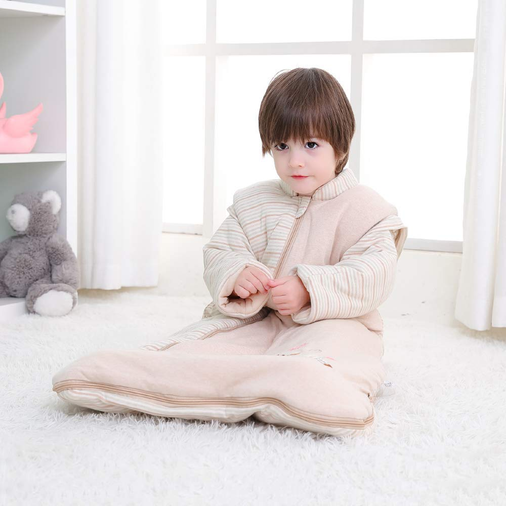 TOOGOO Unisex Baby Sleepsack Wearable Blanket Cotton Sleeping Bag Long Sleeve Nest Nightgowns Thickened Winter Rabbit//3.5 Tog Multicolor L