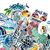 Beach Stickers 50pcs Blue Surfing Waves Fresh