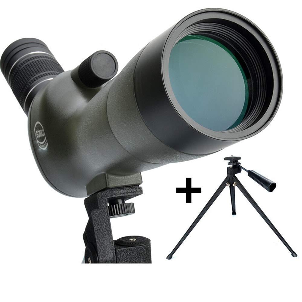 Peaceip 20-6060mm 三脚付きスポッティングスコープ 45度角度付きビッグアイピース 防水 曇り止め ターゲット撮影 バードウォッチング アーチェリー 野生動物の風景 (サイズ: #6:#5+電話クリップ)   B07KZ5ZDQ8