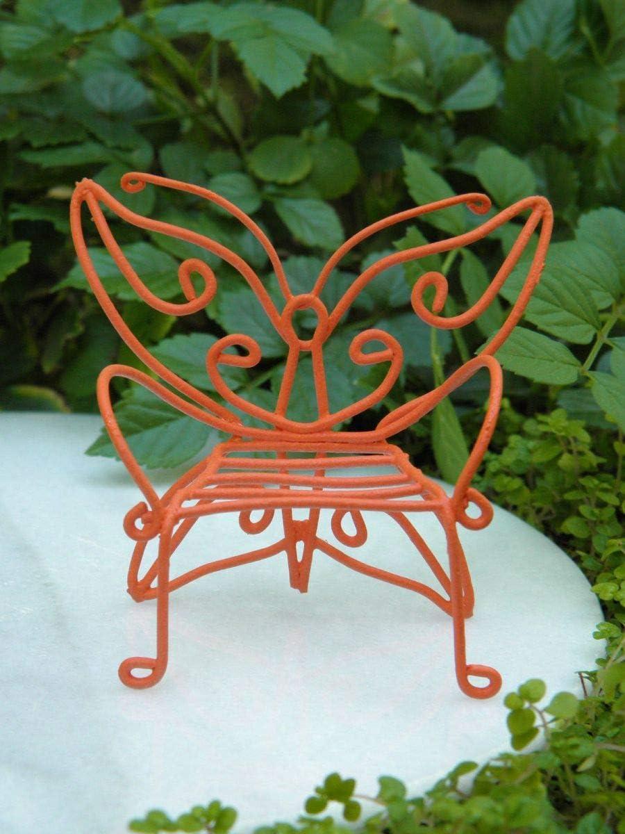 Miniature Dollhouse FAIRY GARDEN ~ Mini Metal GATHERED Throne Sunflower Chair
