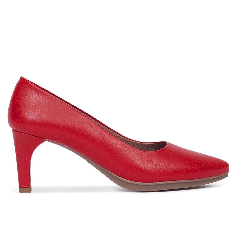 Zapatos Salón. Zapatos Piel Mujer Hechos EN ESPAÑA. Stiletto. Zapatos Tacón Rojo. Zapato Mimao. Zapatos Mujer Tacón. Zapatos Mujer Fiesta y Baile Latino. Zapato Cómodo Mujer con Plantilla Confort Gel