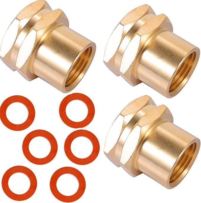 ZKZX Garden Hose Adapter,3//4 GHT Male x 1//2 NPT Male Connector with 3//4 GHT Female x 1//2 NPT Male Connector,Brass Pipe to Garden Hose Fitting Connect 1//2 Couple