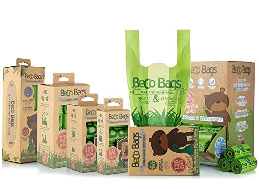Beco Bags - Handle Bags - 120 Strong Large Poop Bags for Dogs - Eco  Friendly and Degradable with Anti-tear, Unscented