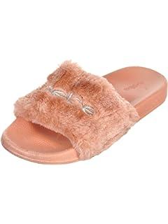 afc1b17d9097 bebe Girls Faux Fur Slide Sandals (Little Kid Big Kid)