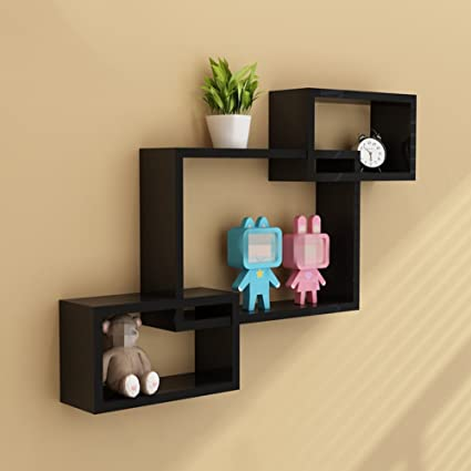 Incroyable BeautyHome Wood Wall Corner Shelves Set, Creative Floating Picture Display  Shelf Set Decorative Storage Shelving
