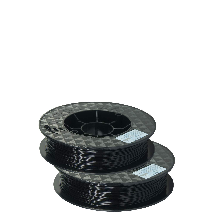 UP Fila C-22-02 PLA Plastic Filament, Black, 2 x 500 g Rolls (Pack of 2) Tiertime