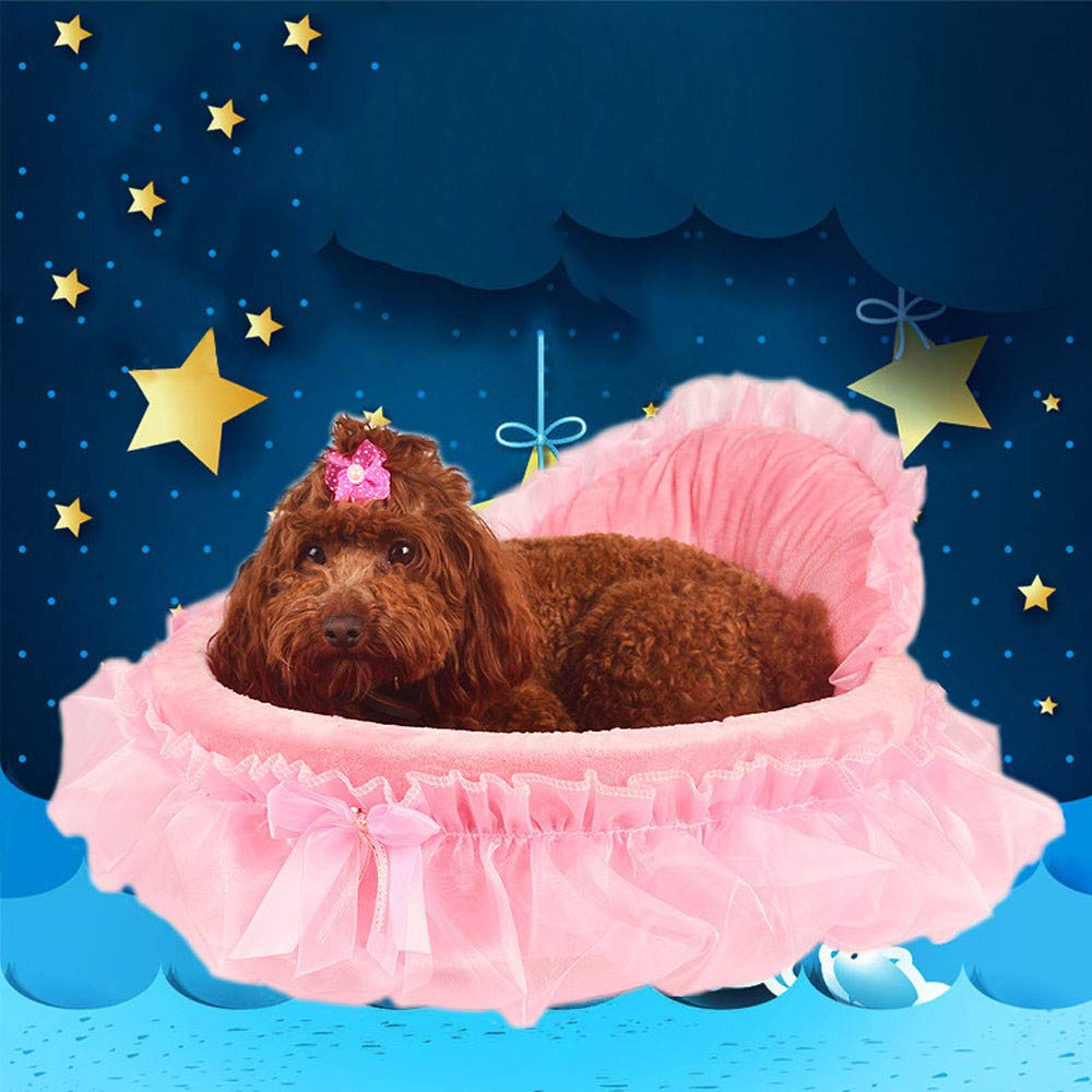 Amazon.com : Puppy Pet Dog Mat Blanket, Coper Princess Doghouse Self-Warming Lovely Bows Bed for Small Dog Cat (Purple) : Pet Supplies
