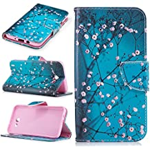 Samsung Galaxy J7 2017 Case,Betty Stand Feature Double Layer Shock Absorbing Premium Soft PU Leather Wallet Cover Flip Cases with [Credit Card Slot] Magnetic Closure for Samsung Galaxy J7 V (2017)