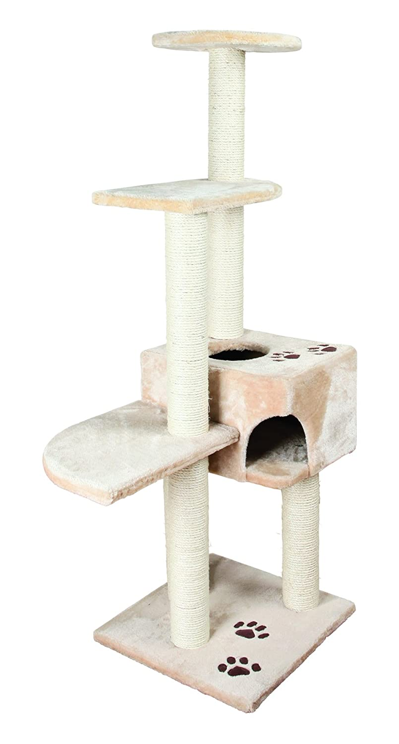TRIXIE Pet Products Cat Tree Play House Scratcher Condo Pet House Combo