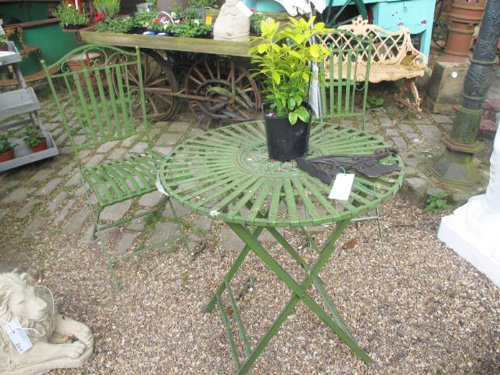 French Ornate Antique Green Wrought Iron Metal Garden Table And Chairs Bistro  Furniture Set: Amazon.co.uk: Garden U0026 Outdoors