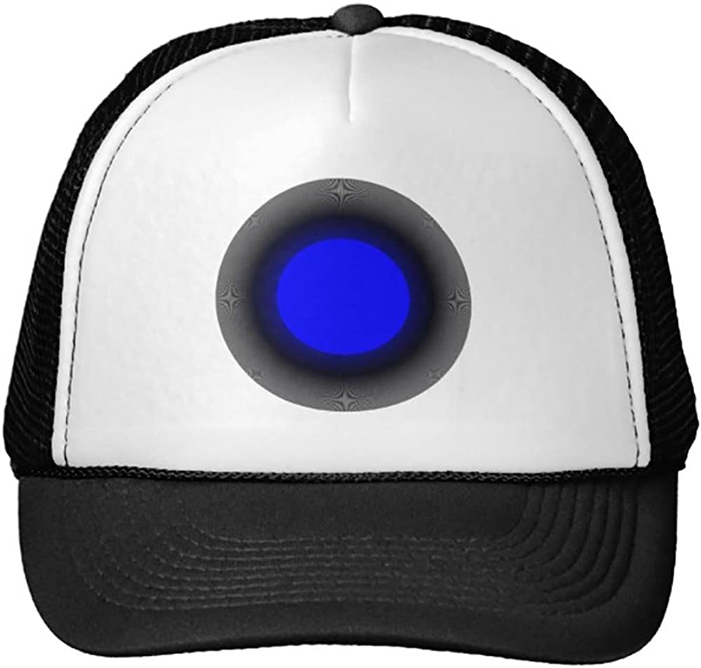 Trucker Hat Blue and Black Dot
